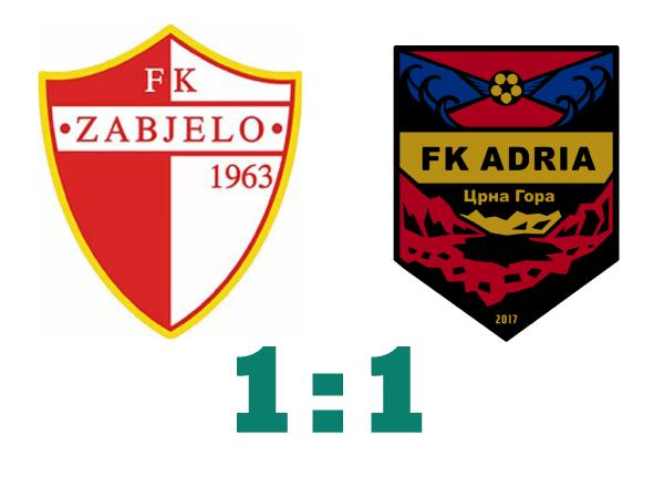 PREGLED: FK Zabjelo – FK Adria