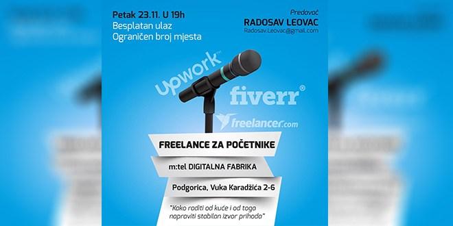 """Besplatna radionica """"Freelance za početnike"""