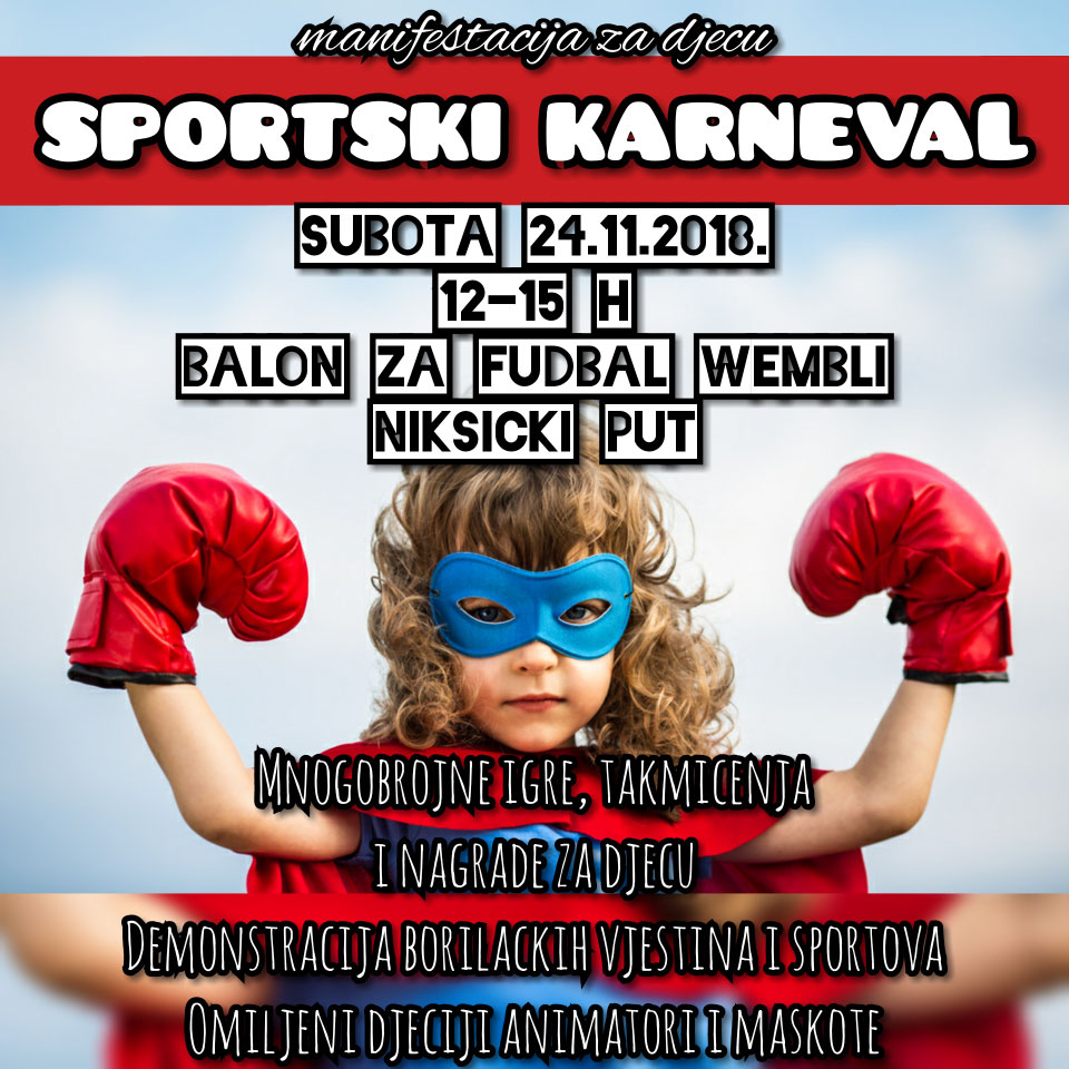 Sportski karneval za djecu na Zabjelu
