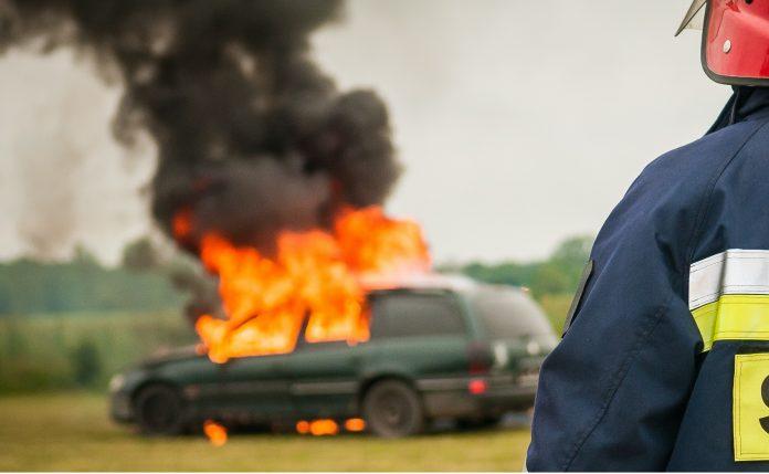 Zapaljen automobil na Zabjelu