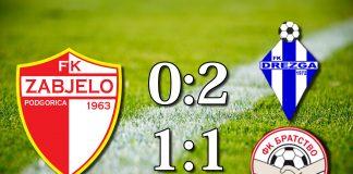 PREGLED: FK Zabjelo - FK Drezga, FK Bratstvo (VIDEO)