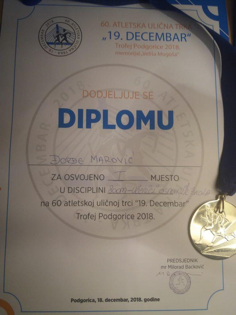 Zabjelčanin prvi kroz cilj trke oslobođenja Podgorice