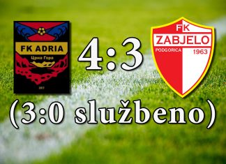 PREGLED: FK Adria - FK Zabjelo (VIDEO)